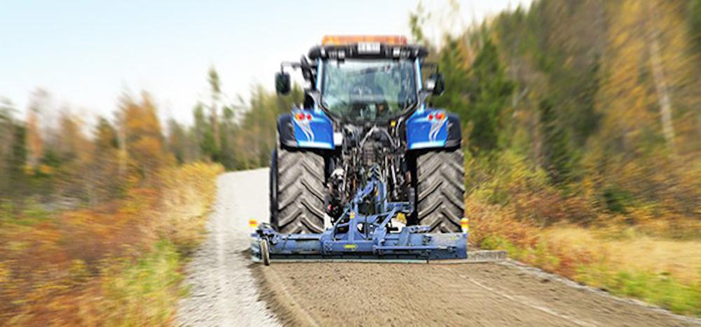 Ny grussträngspridare för jordbrukstraktorer