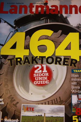 Lantmannen gör genomgång av 464 traktorer på svenska marknaden!