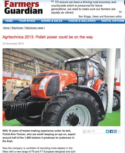 """Farmers Guardian: """"Håll ögonen på polska Farmer!"""""""