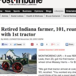 101-åring återfick traktorn han sålde 1937...