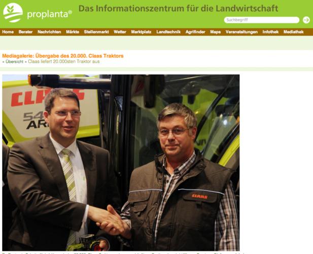 Claas sålde sin 20 000:de traktor