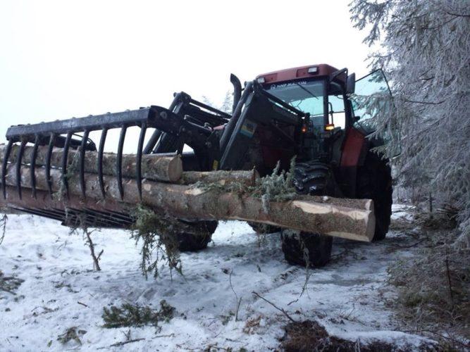 Kul med traktor