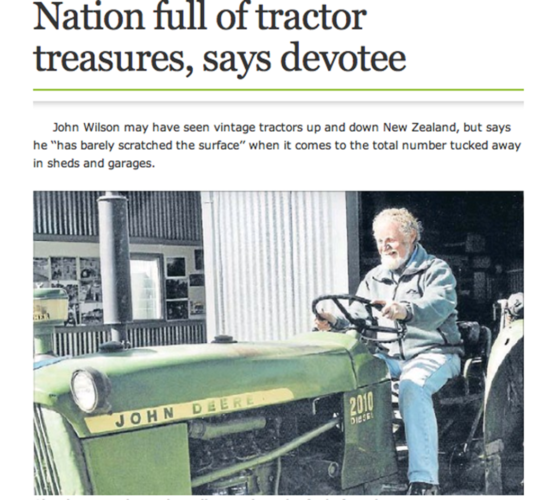 Nya Zeeland: ett veteran-traktorparadis!