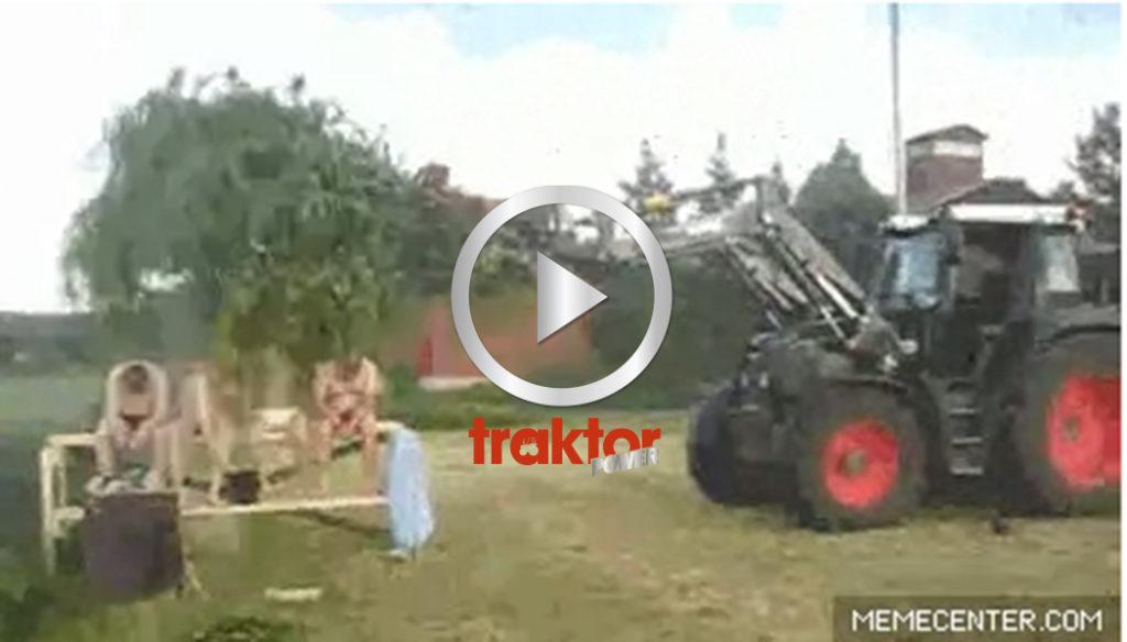 JÄÄH! Har du en Fendt med frontlastare. Då kan du fixa finsk traktorbastu!