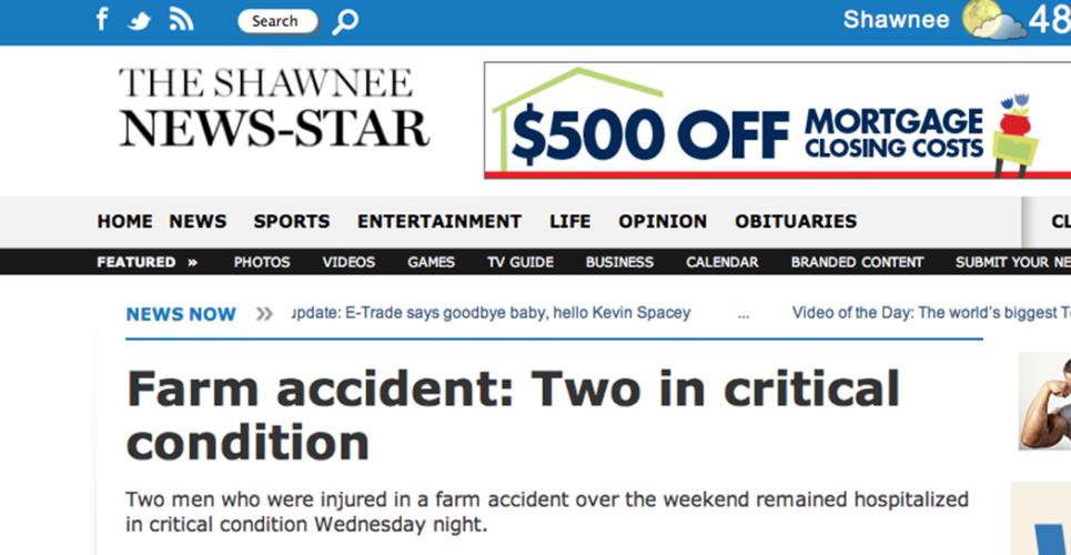 Två kördes över av såmaskin – skadades svårt