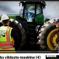 "JD 9560R tävlar om titeln ""Danmarks vildaste maskin"""