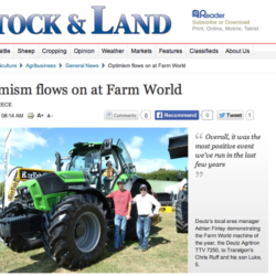 "Deutz tog hem ""Årets traktor"" i Australien"