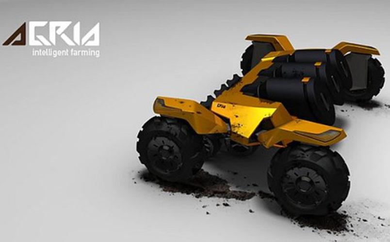 Robottraktorer tävlar på tyska fältdagar