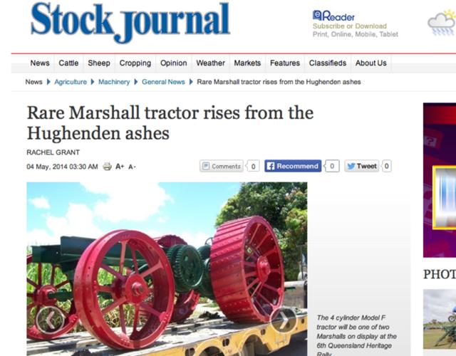 Sällsynt Marshall F Colonial renoveras