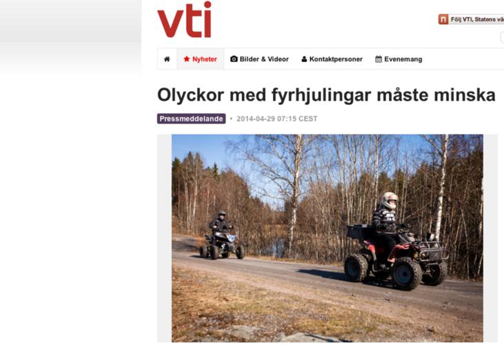 Fyrhjulingsolyckor angrips av forskare