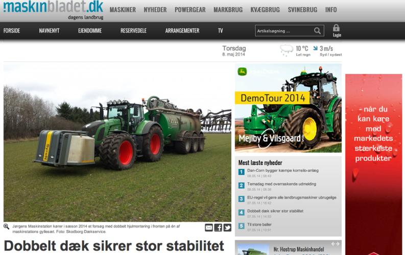 Dubbla däck i danskt projekt