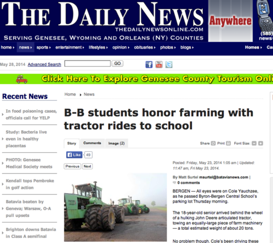 """""""Take your tractor to school day"""""""