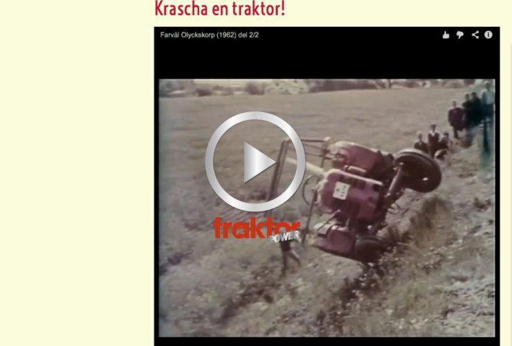 Krasch med traktor!