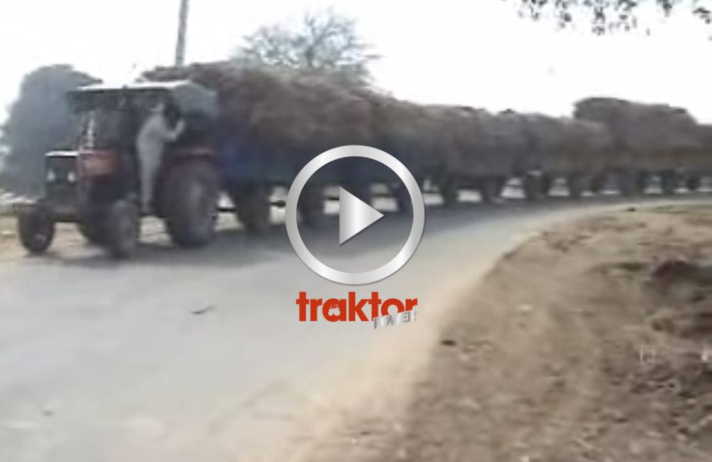 Flest vagnar bakom traktorn vinner!