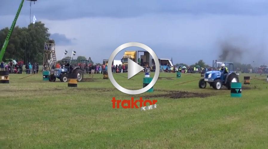 Paralellslalom med traktor