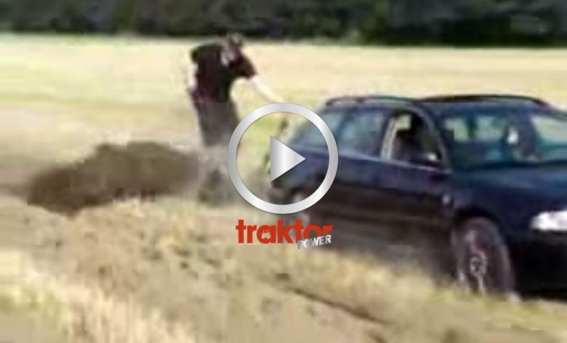 TESTA att plöja med bilen, vet ja!