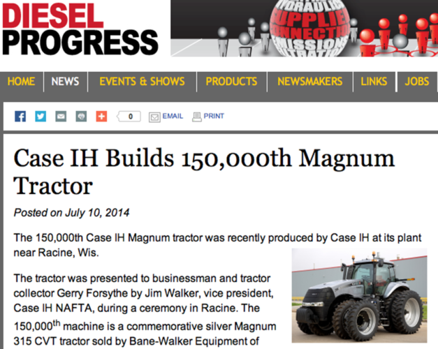 150 000:de Magnumen rullade av bandet