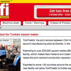 Ny stor traktorfabrik klar i Turkiet