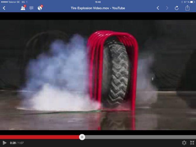 Däck-explosion!!!