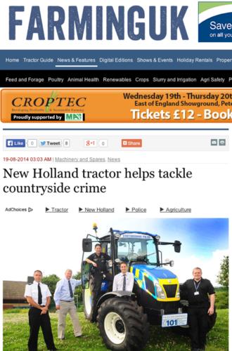 Traktor mot landsbygdsbrott
