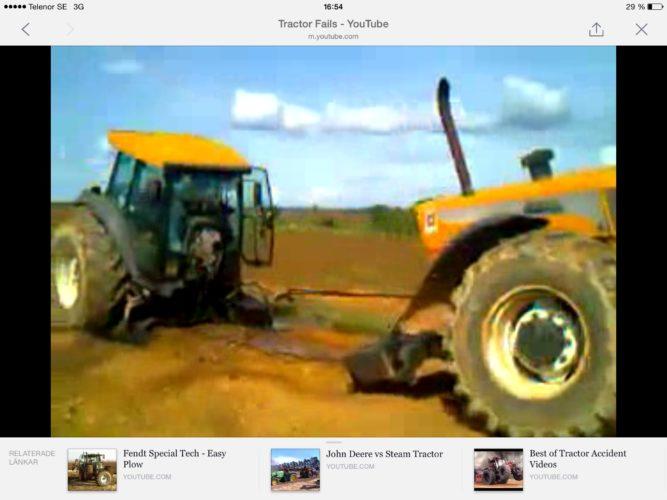 Konsten att dra itu en traktor!