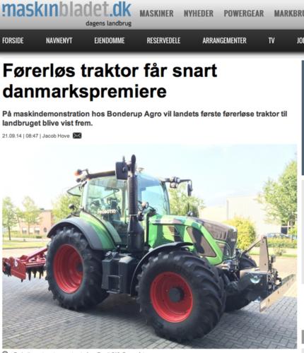 Förarlöst på dansk maskindemo