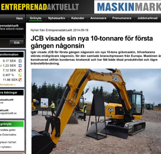 Ny 10-tonnare från JCB