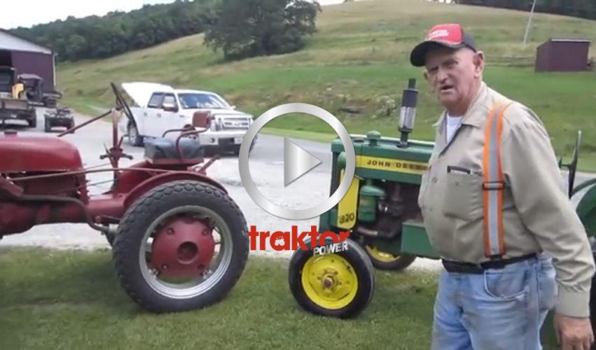 Vilken gubbe, vilken traktorsamling!