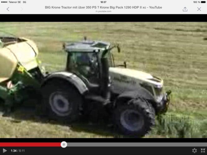 Big Krone-traktor!