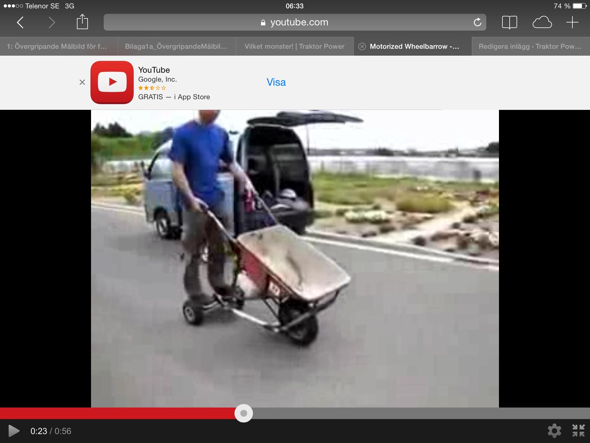 Icke gamla Skottkärra med motor! | Traktor Power OK-14