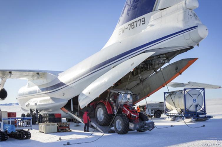 Sydpolen-Masseyn på Antarktis