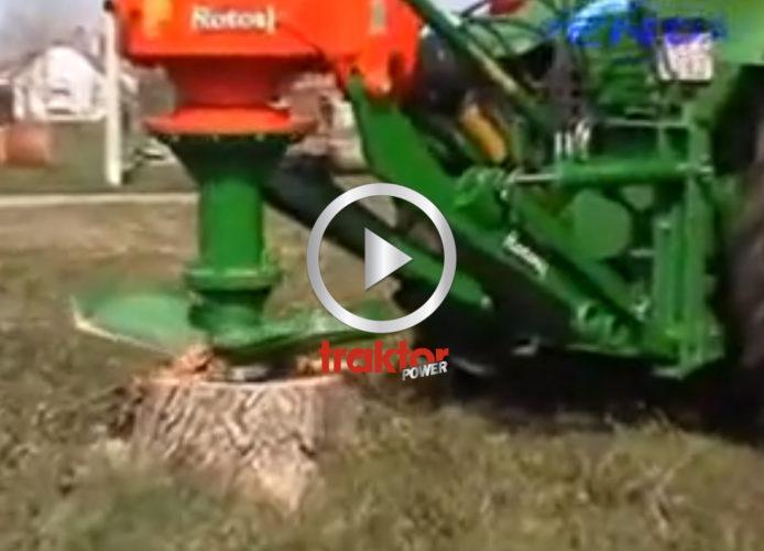 HYVLA BORT stubben med traktorn!!!