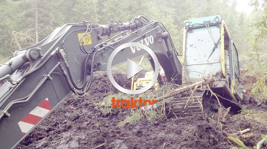 Volvo excavator in deep shit!