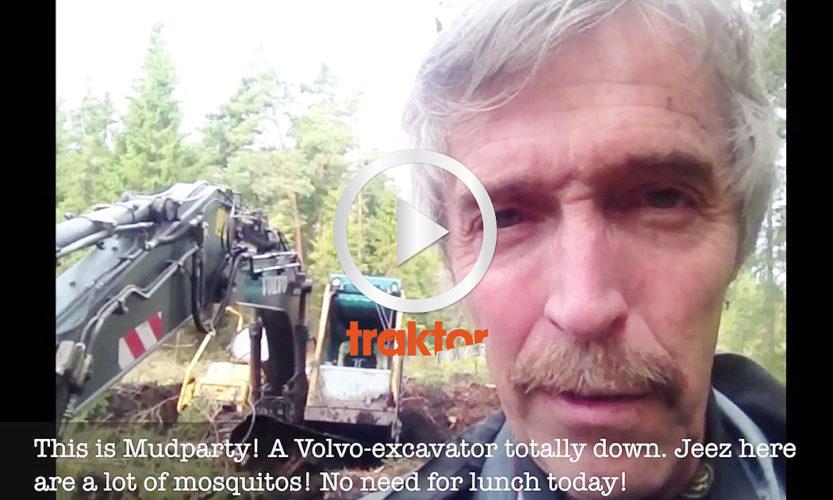 SÅ bärgas en Volvo-grävare!!!