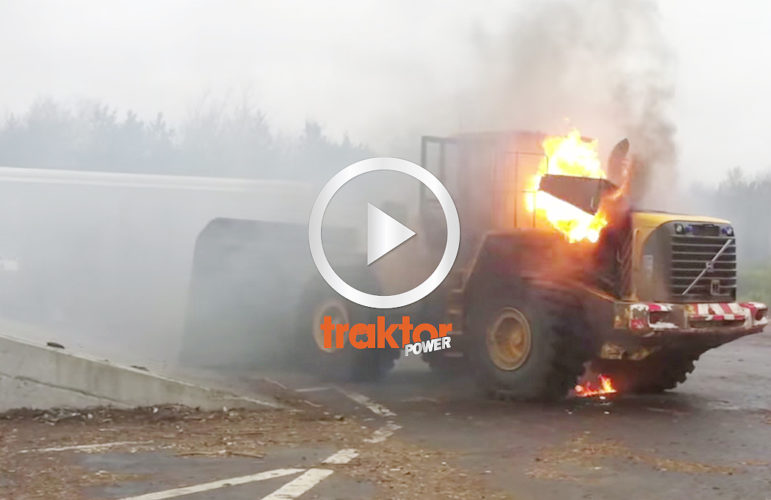 Volvo on fire!!!