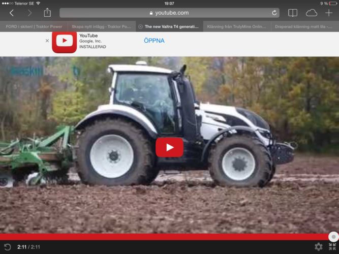 NYA Valtra T4 in action!