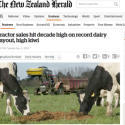 Bra traktorförsäljning i Nya Zeeland
