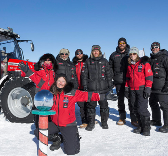 Sydpolsexpeditionen vid målet!