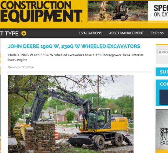 John Deere lanserar nya hjulgrävare