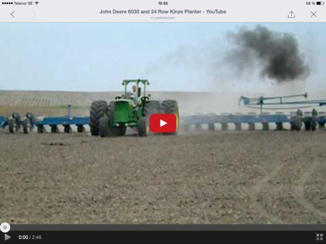 JOHN Deere 6030 sår majs!
