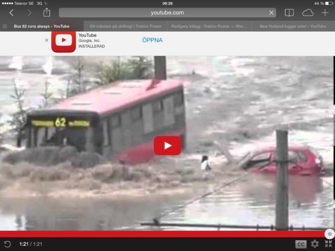 Bus 62 går pålitligt!