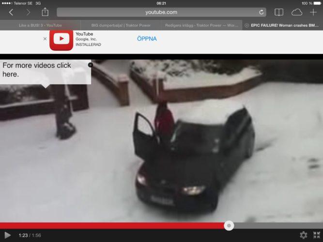 VAA, hon går ur bilen o knuffar!