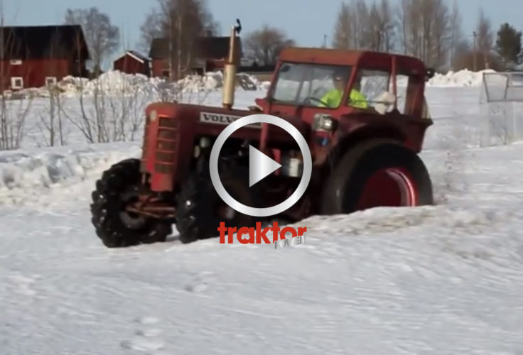 Fyrhjulsdriven Bison i snön!