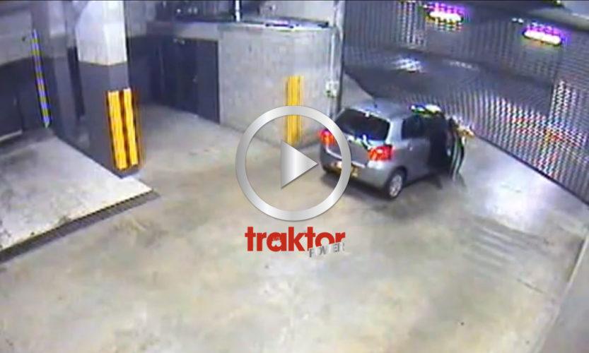 Hur man INTE kör ut ur ett garage!