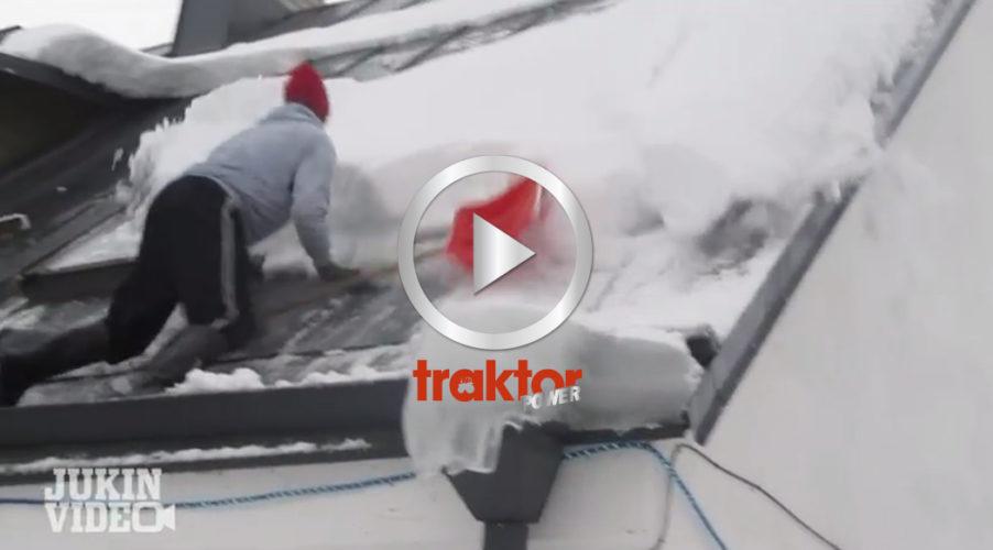 Så jobbar ett snöskottarproffs!