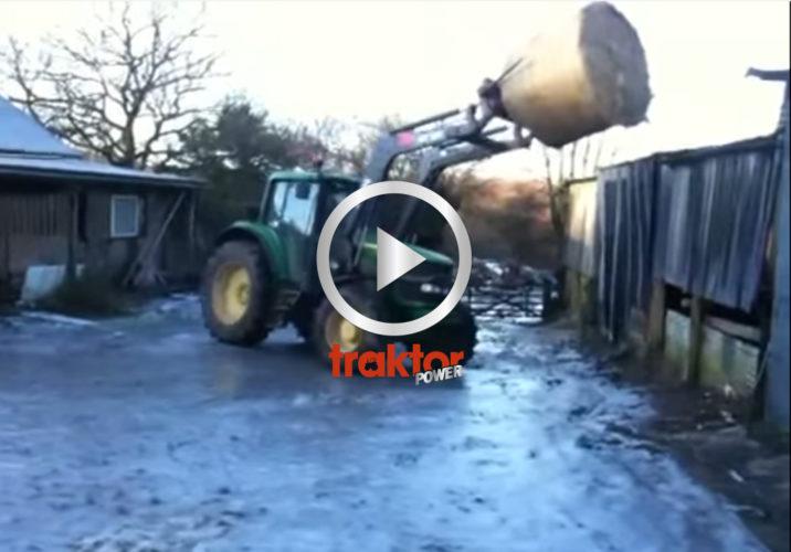 BAMBI!!! Traktor på is!!!