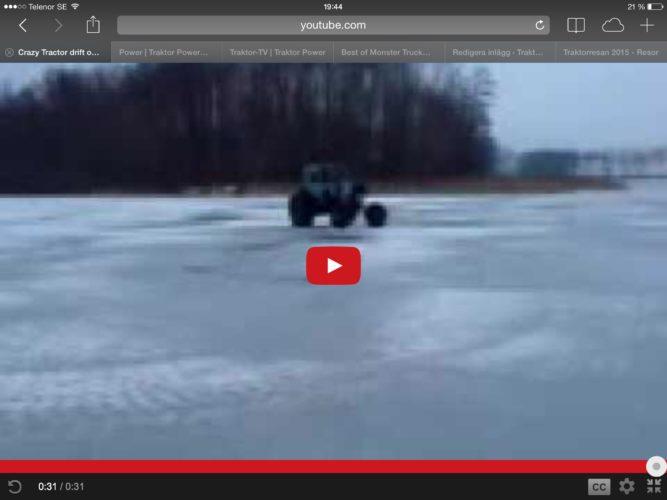 TRAKTOR-drifting på is!!!