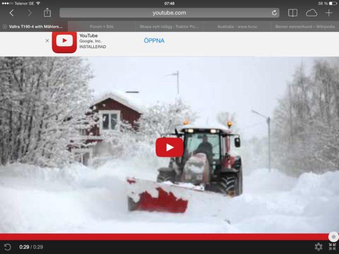 Valtra Snow-eater!
