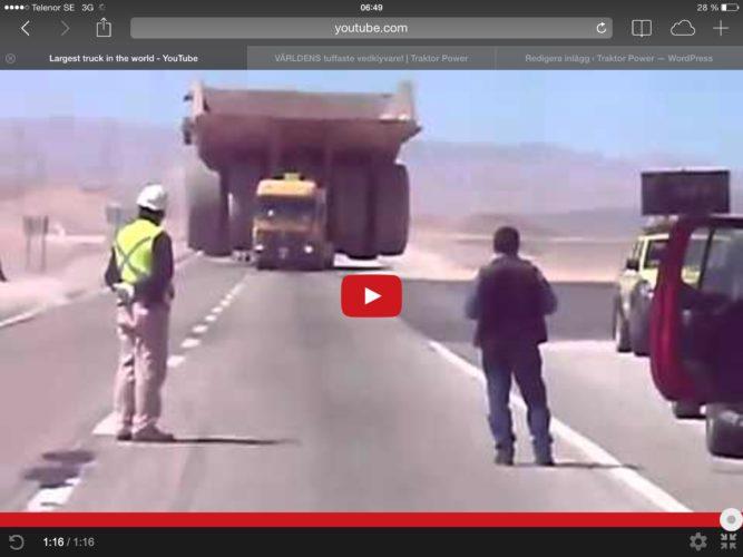 Big truck on road!