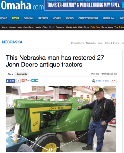 Han har renoverat 27 John Deere!
